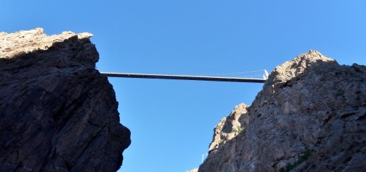 Royal Gorge Bridge from Below