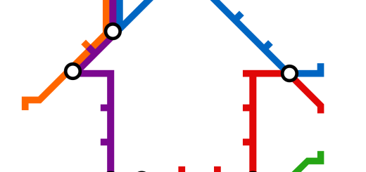 Transit Map House for Morning Commute