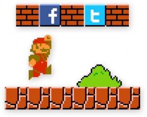 Super Mario Social Media