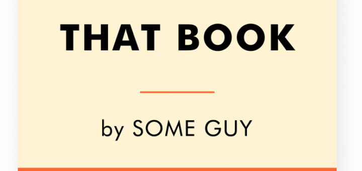 That Book by Some Guy