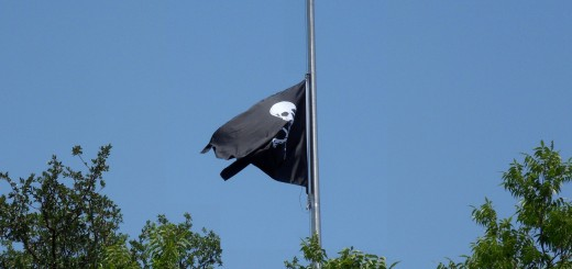 Pirate Flag at Half Staff