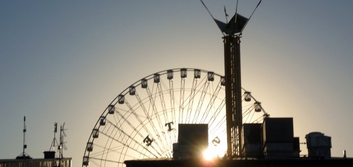 Texas Star at sunset