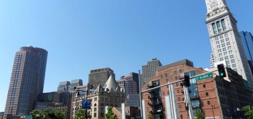 Boston Skyline from Aquarium