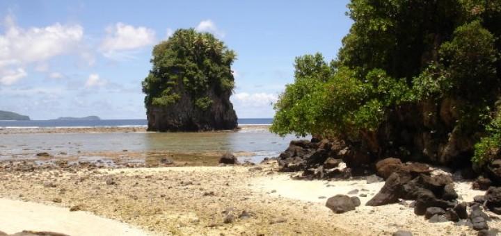 Fatumafuti Rock from beach