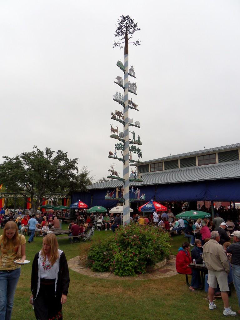 Maypole at the Fredericksburg Oktoberfest