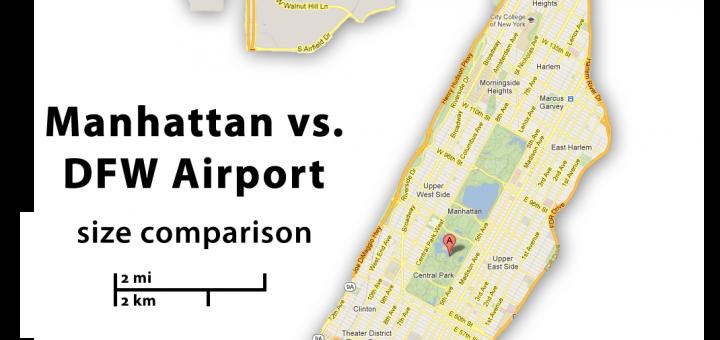 DFW Airport vs Manhattan