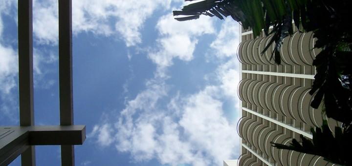 Waikiki Hotel Looking Up