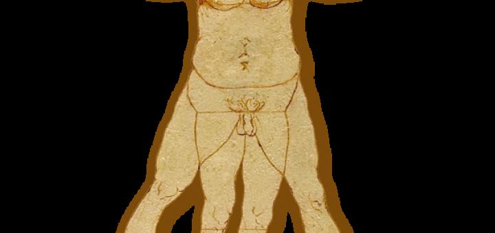 Overweight Vitruvian Man