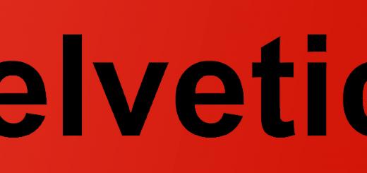 Helvetica Written in Arial