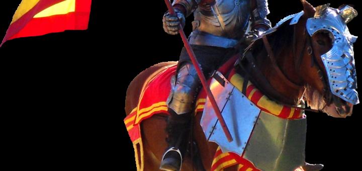 Knight on Horse at Renaissance Fair