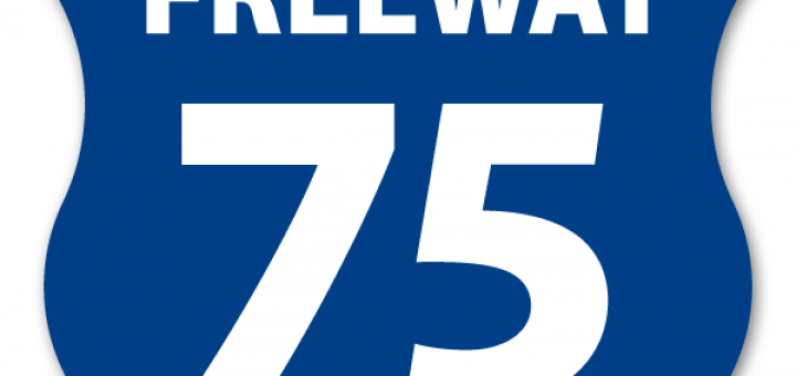 US Highway 75 Freeway sign