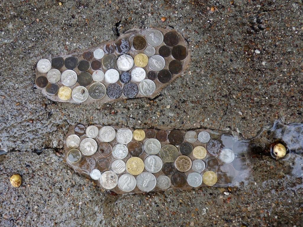 Bishop Arts District Coin Footprints