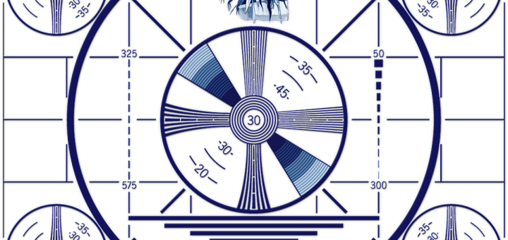 Blue Indian Head Test Pattern