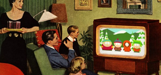 "1950s Family Watching ""South Park"""