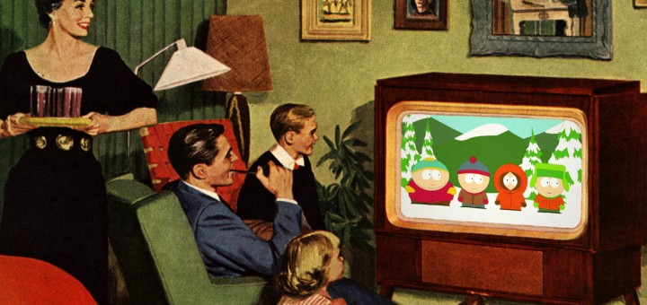 """1950s Family Watching """"South Park"""""""