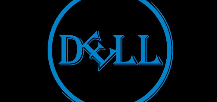 Dell Logo in Algerian Font