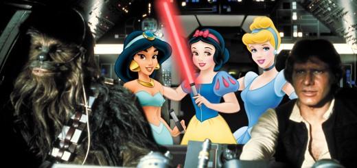 Disney Princesses on the Millennium Falcon