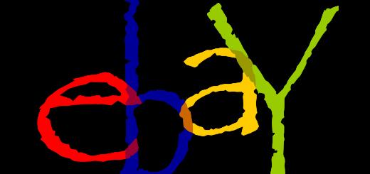 eBay Logo in Papyrus Font