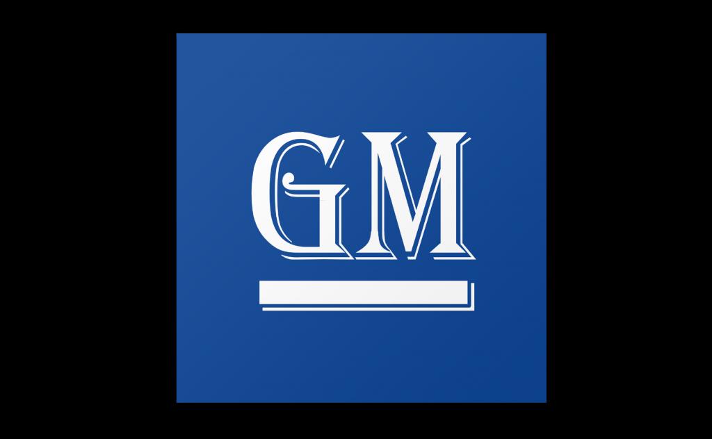 GM Logo in Algerian Font