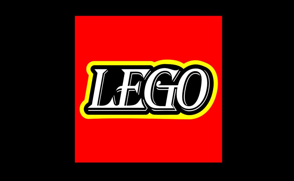 Lego Logo in Algerian Font
