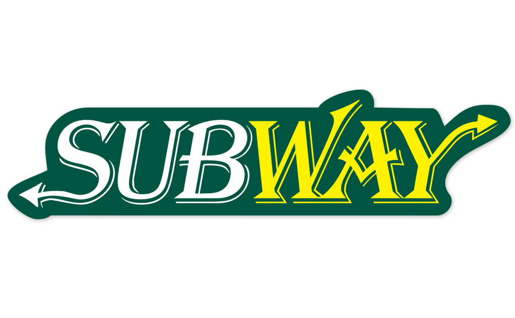 Subway Logo in Algerian Font