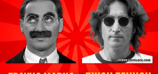 Marx and Lennon Soviet Propaganda Poster