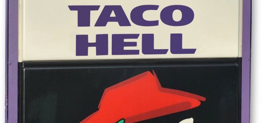 Taco Bell Pizza Hut Parody Sign