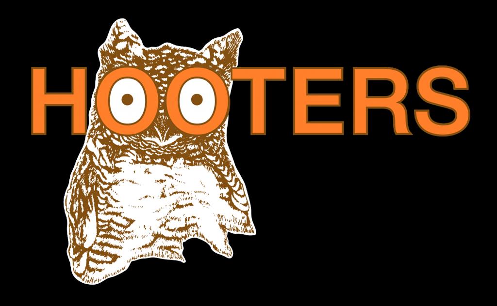 Hooters logo in Helvetica