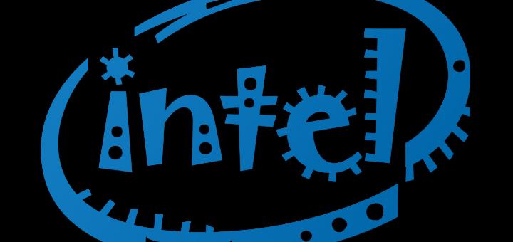 Intel Logo in Jokerman Font