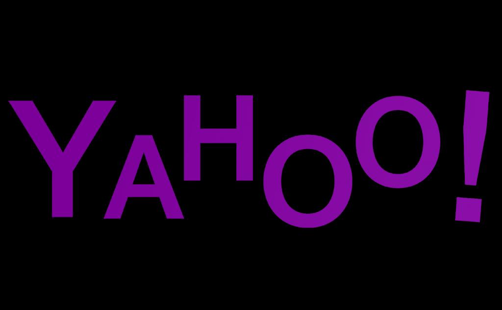 Yahoo logo in Helvetica