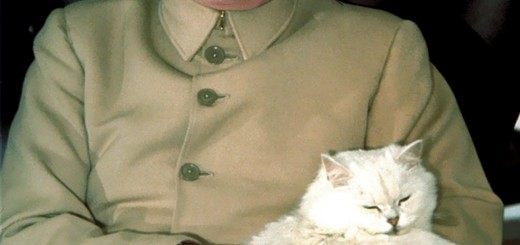 Dick Cheney as Blofeld with Cat