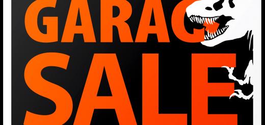 Jurassic Garage Sale Sign