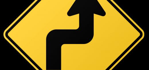 Zigzag Road Sign