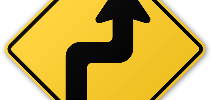 Zigzag Road Sign