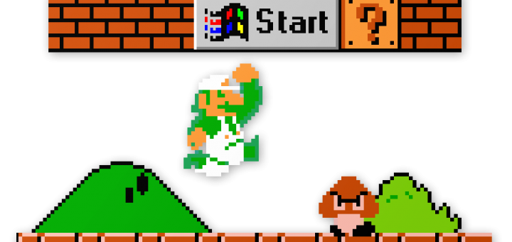 Super Mario Bros Start Menu