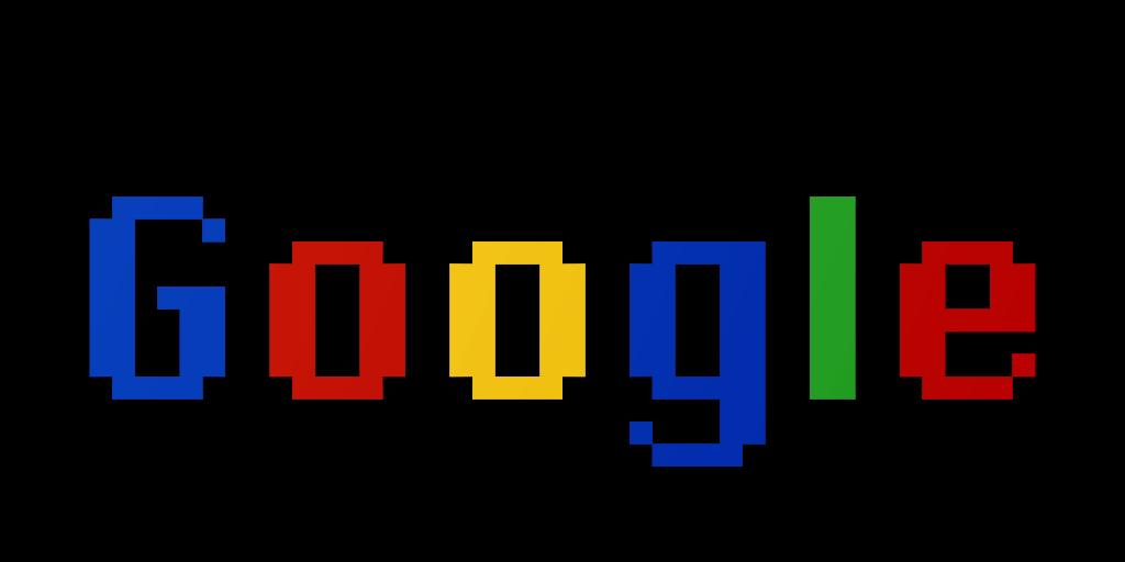 Google Logo in Chicago Font