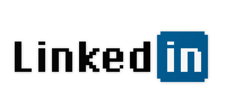 LinkedIn Logo in Chicago Font