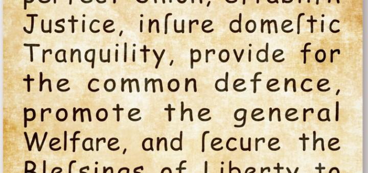US Constitution in Comic Sans