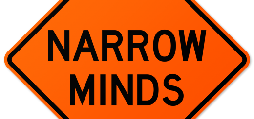 Narrow Minds Warning Sign