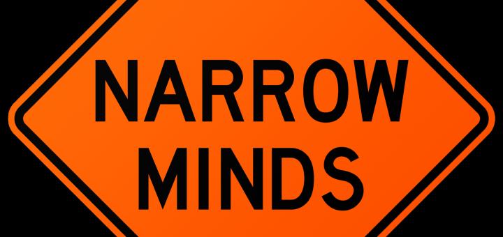 Narrow Minds Warning Sign