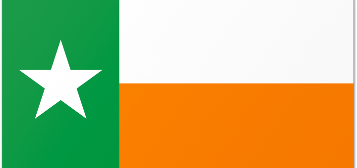 Texas Flag with Irish Colors