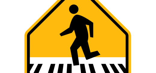 Big Piano Scene Pedestrian Sign