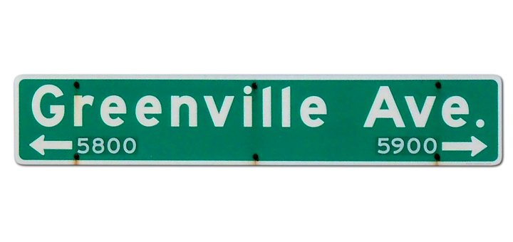 Greenville Avenue Sign