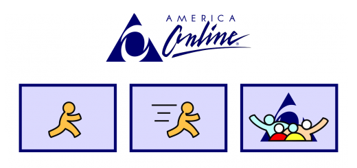 AOL Online Service Connection Window