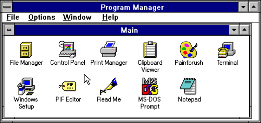 Windows Program Manager Vectorized