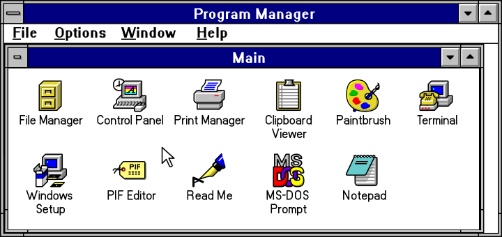 Windows Program Manager Vectorized