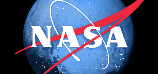 NASA Meatball Logo with Pluto