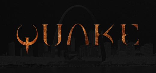 St. Louis Skyline with Quake Logo