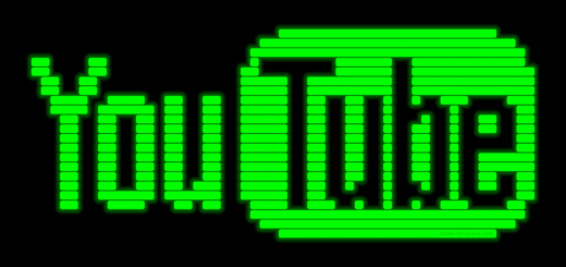YouTube Logo in CRT Phosphors