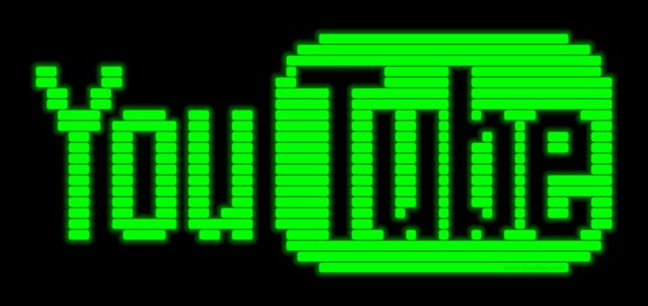 YouTube Logo in CRT Phosphors